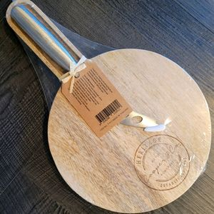 Wooden Cheese Board with Knife
